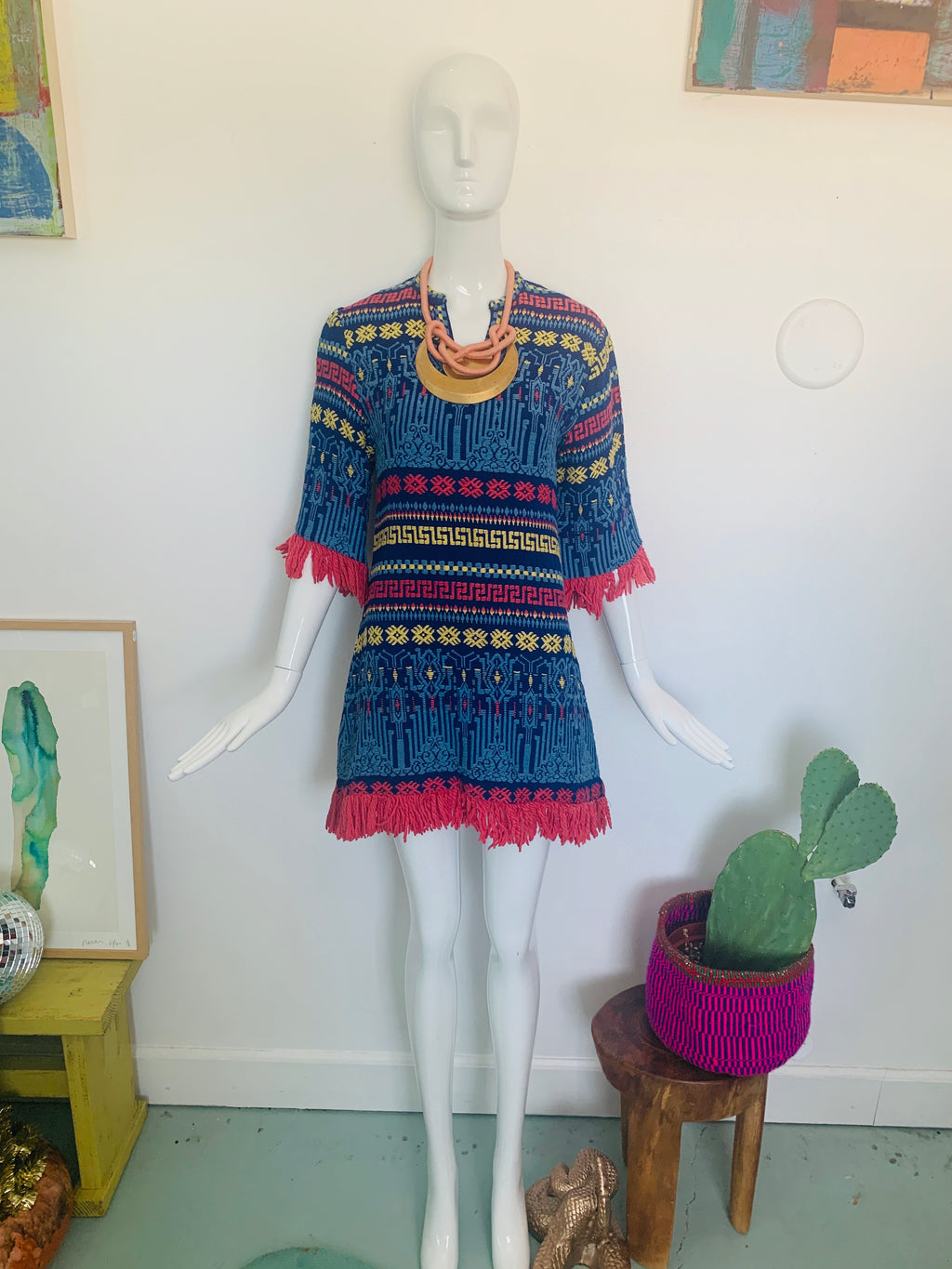60's Fringe Tapestry Dress