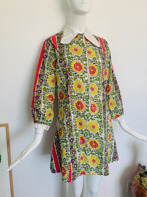Funky 70's Inspired Shift Dress