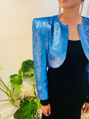 80's Cropped Sequin Jacket