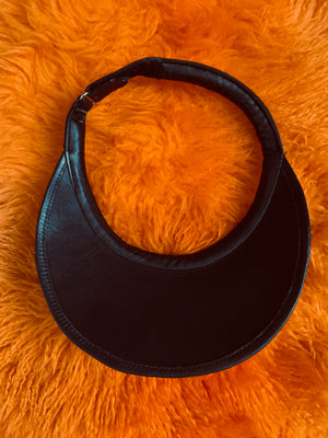 Leather 80's Visor