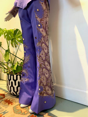 Purple Peacock EMBELLISHED TWO PIECE SUIT