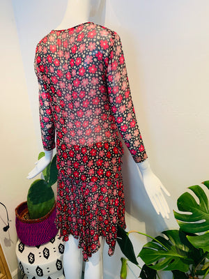 DAISY + DOT SILK DRESS