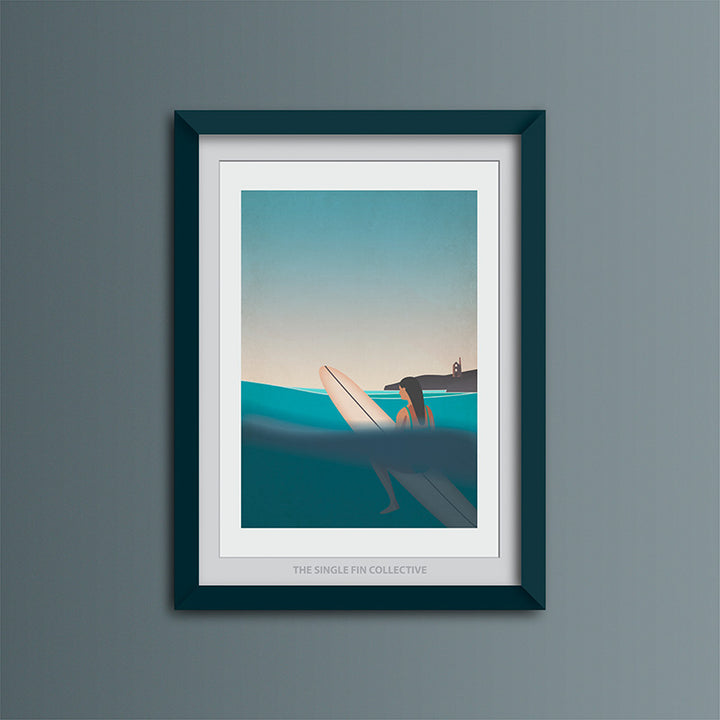 Good Times in the Badlands Art Print (Blue Sky Version)