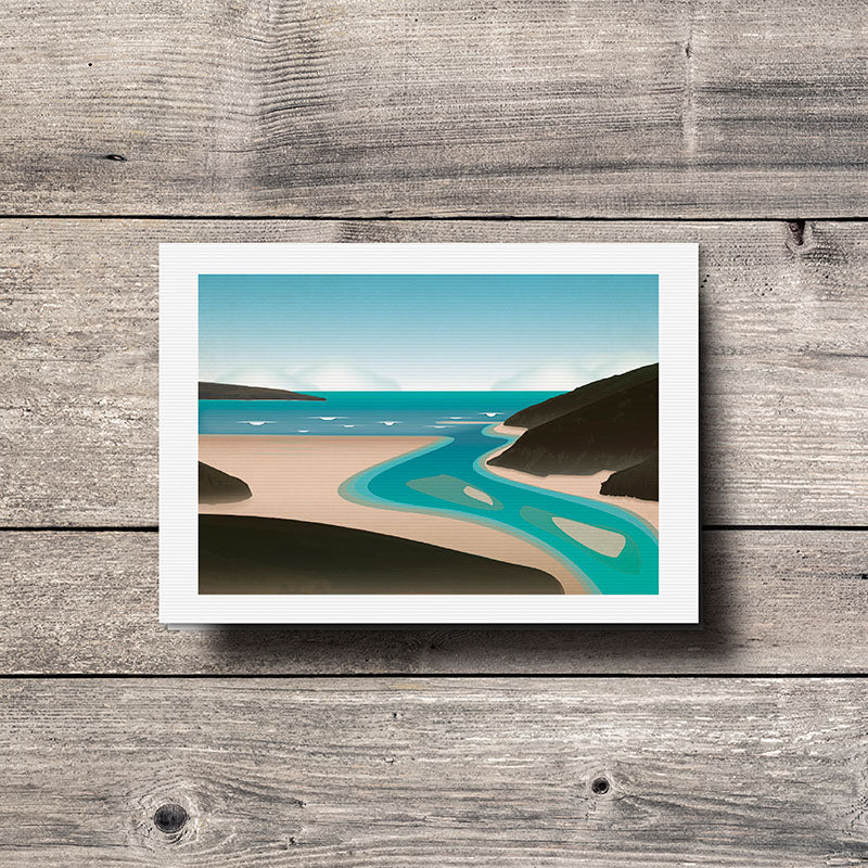 Crantock Beach Greeting Card