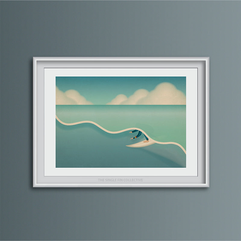 Green Room Surf Art Print