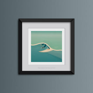 Green Room Square Surf Art Print