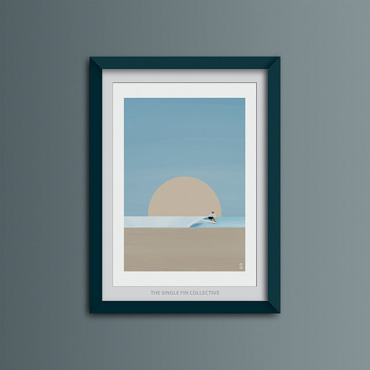 Hang Five Art Print