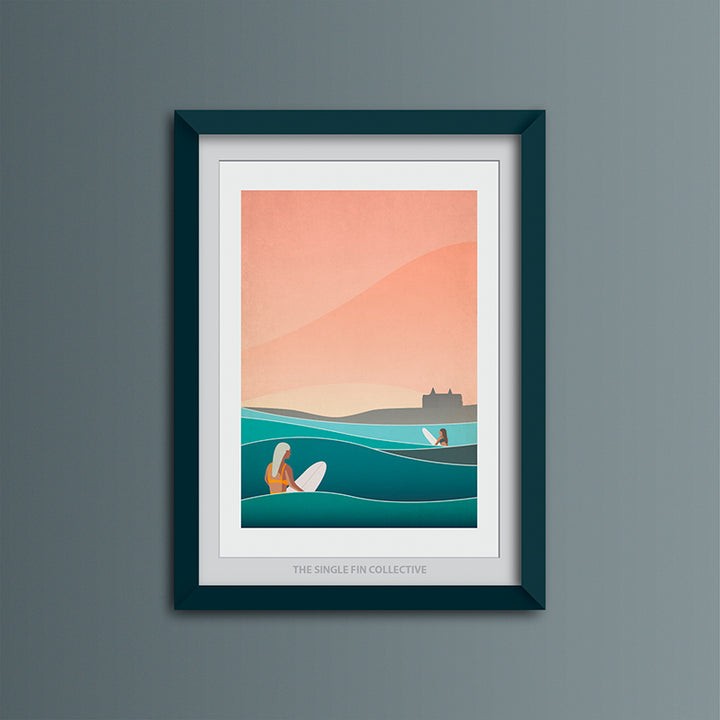 Headland Haze (Fistral Beach) Art Print