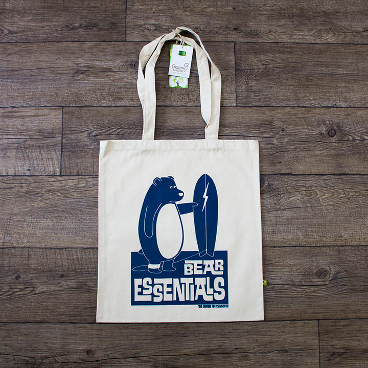 Bear Essentials Surf Themed Tote Bag
