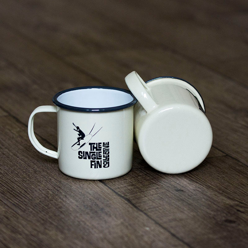 Waveriding Enamel Mug
