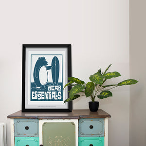 Bear Essentials Art Print