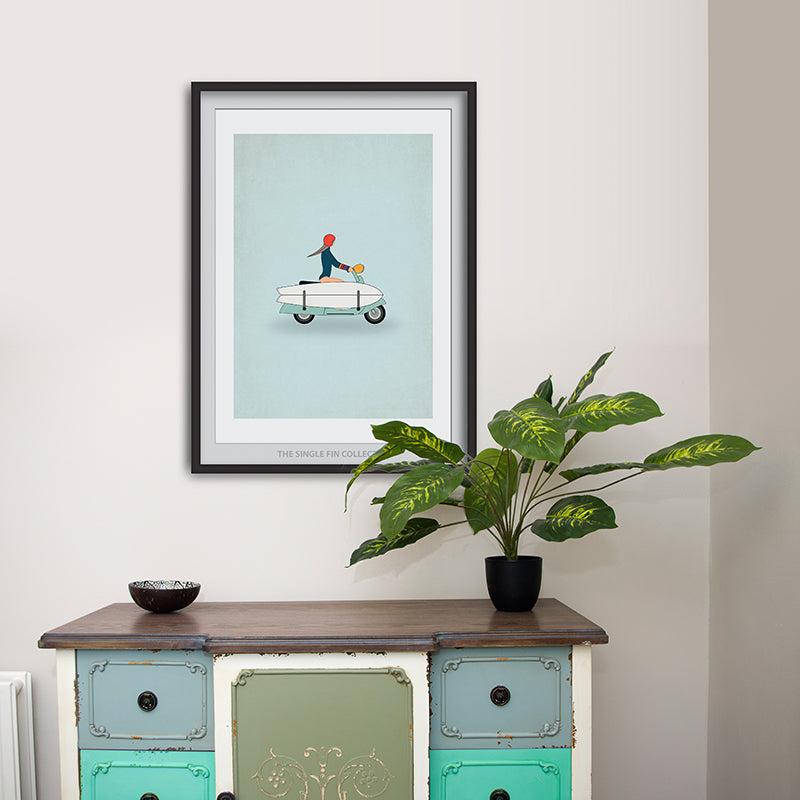Vespa Travel Art Print