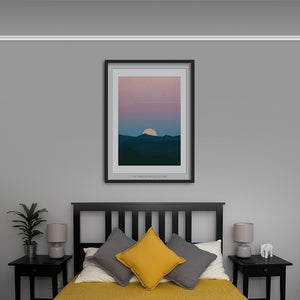 Moonrise Mountains Art Print