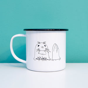 Friendly Seal Enamel Mug