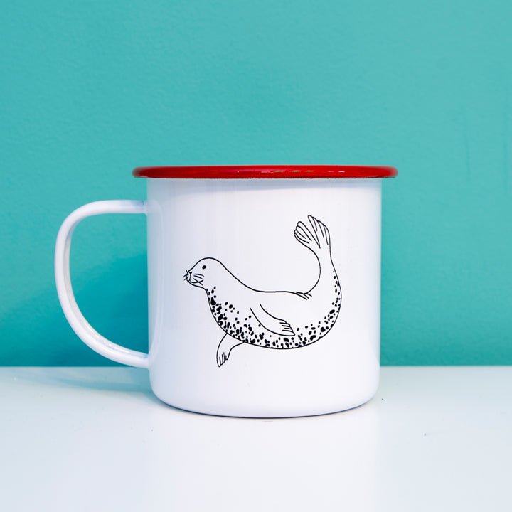 Grey Seal Enamel Mug