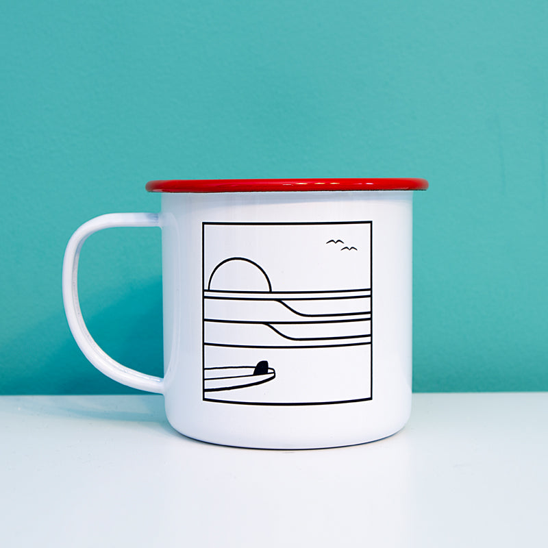 Sunrise Surf Enamel Mug