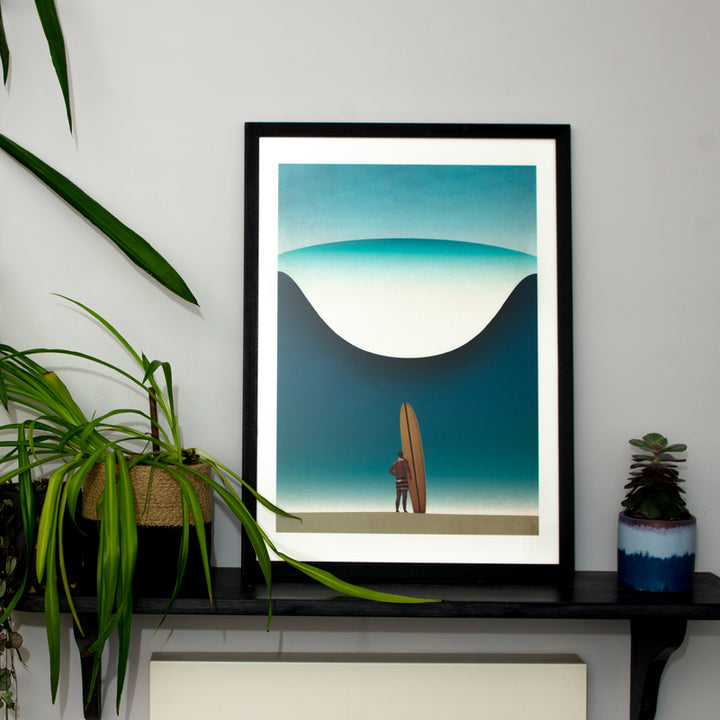 Framed Noll at Pipeline Art Print (Click & Collect)