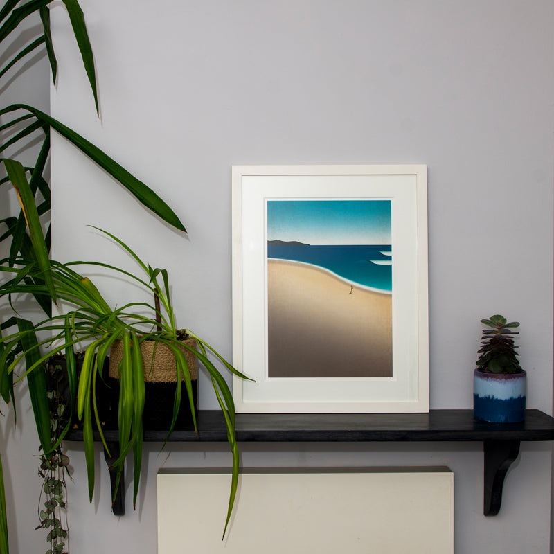 Framed Paradise Beach Art Print (Click & Collect)