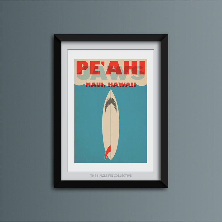 Pe'ahi Shark Art Print