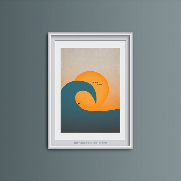 Overhead Wave Art Print