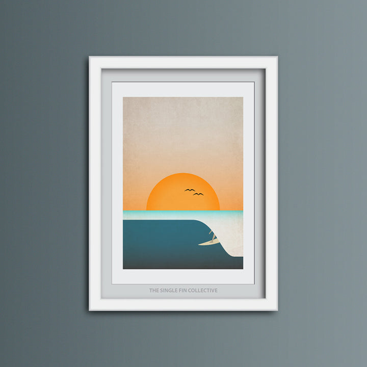 Surf Barrel Art Print
