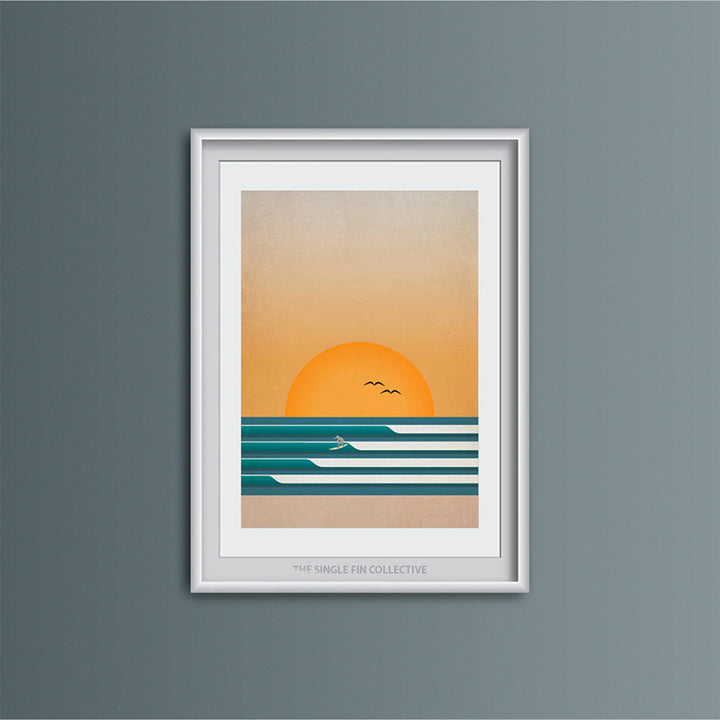 Four Waves Art Print