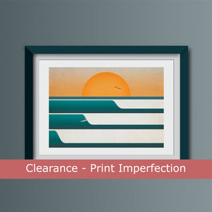 Clearance - Sunset Surf (Landscape) Art Print