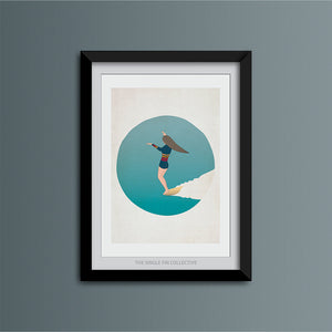 Ladyslider Surfer Girl Art Print