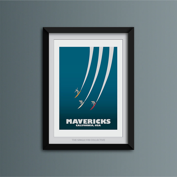 Mavericks Big Wave Art Print
