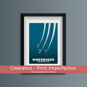 Clearance - Mavericks Art Print
