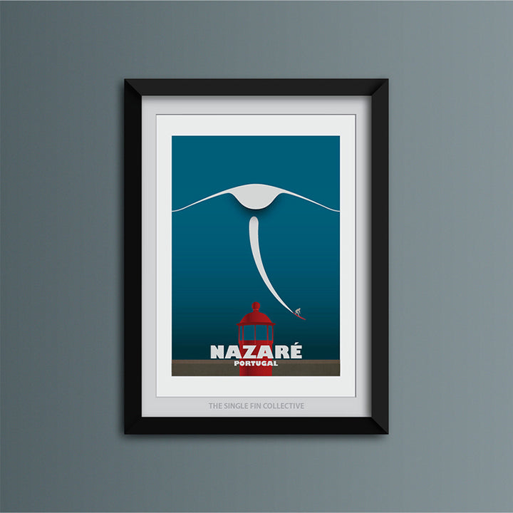 Nazare Big Wave Art Print