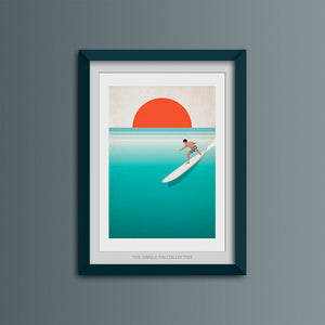 Noll at Waimea Art Print