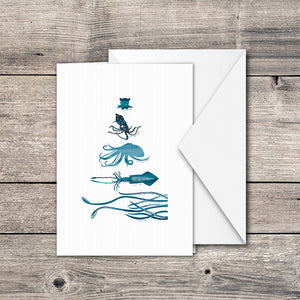 Octopus & Squid Greeting Card