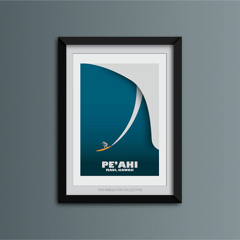 Peahi Big Wave Art Print