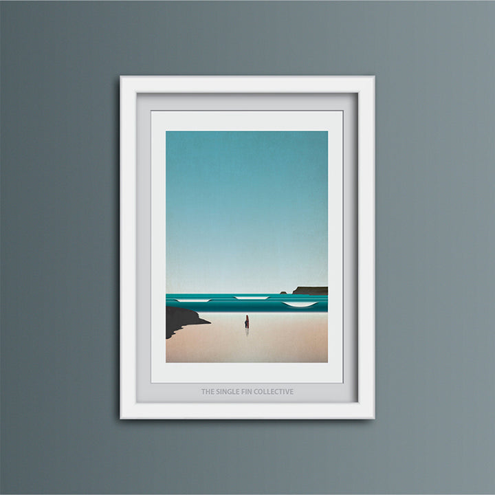 Polzeath Surf Spot Art Print