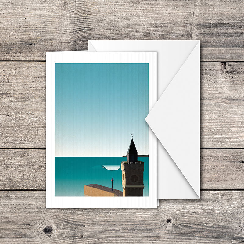 Porthleven Surf Spot Greeting Card