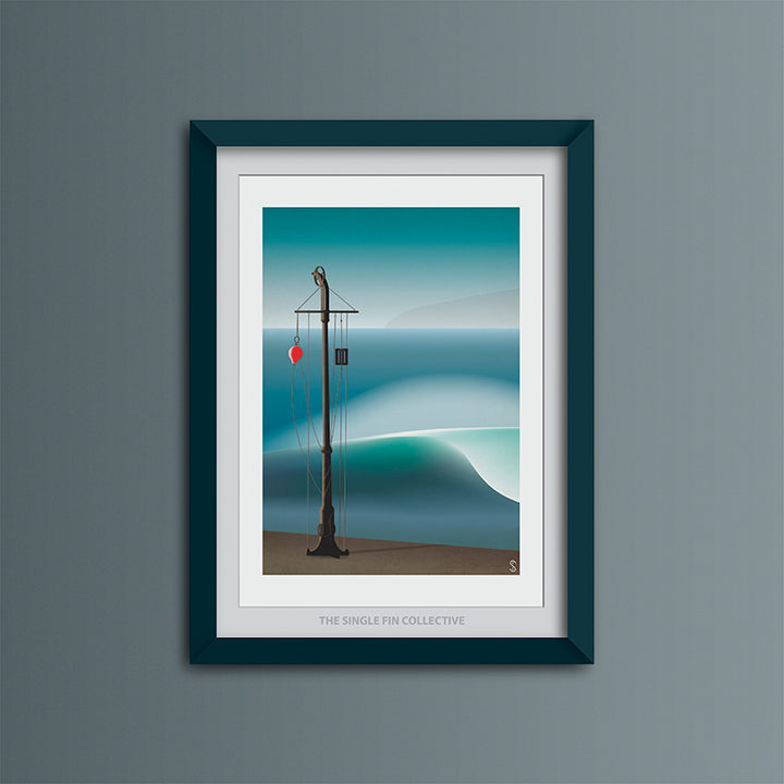 Porthleven Harbour Wall Art Print