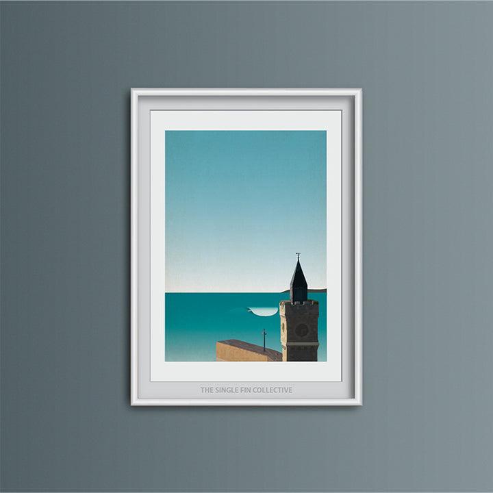 Porthleven Wave Art Print