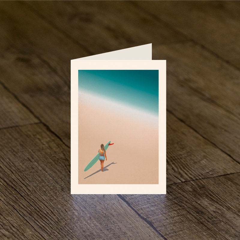 Red Fin Rider Greeting Card