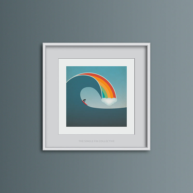Rainbow Surf Art Print