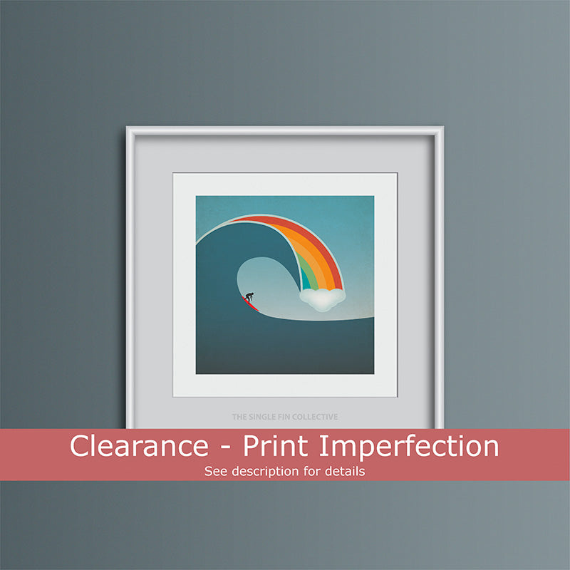 Clearance - Rainbow Surf Art Print