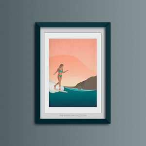Rise and Glide Art Print