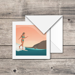 Rise & Glide Greeting Card