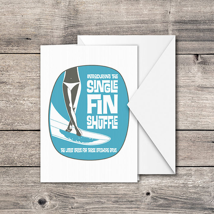 Single Fin Shuffle Greeting Card