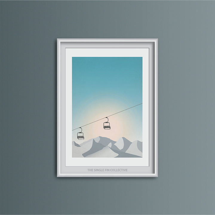 Ski Chair Lift Art Print