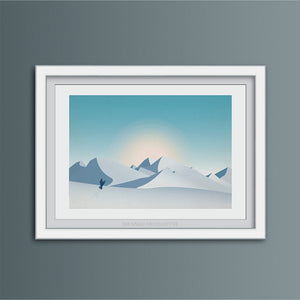 Snowboard Outlook Art Print
