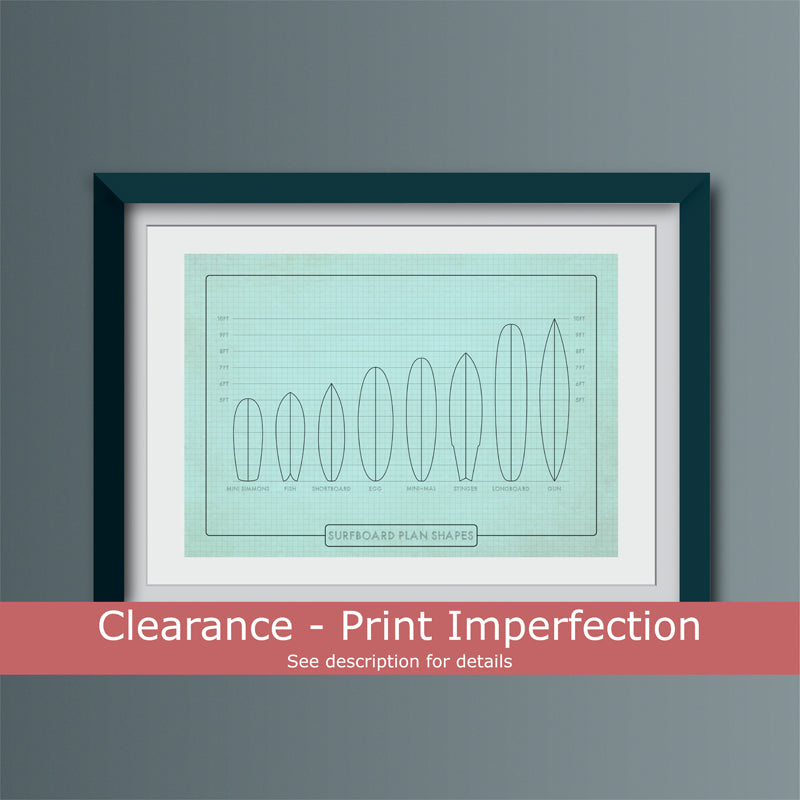 Clearance - Surfboard Shapes Art Print