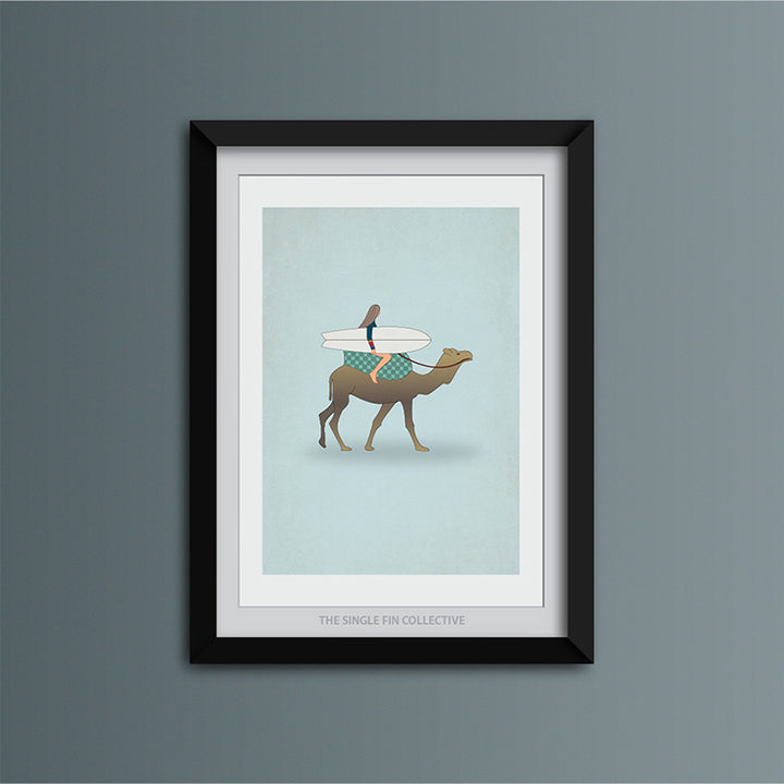 Camel Travel Art Print