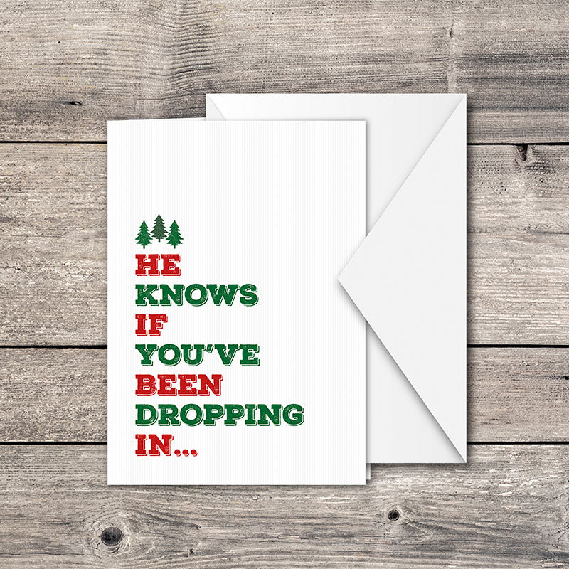 Dropping In Greeting Card
