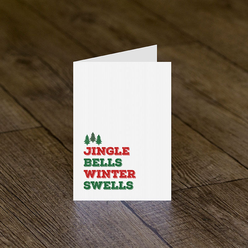Jingle Bells Winter Swells Greeting Card